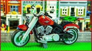 LEGO CREATOR 10269 Harley-Davidson Fat Boy Construction Toy - UNBOXING Speed Build