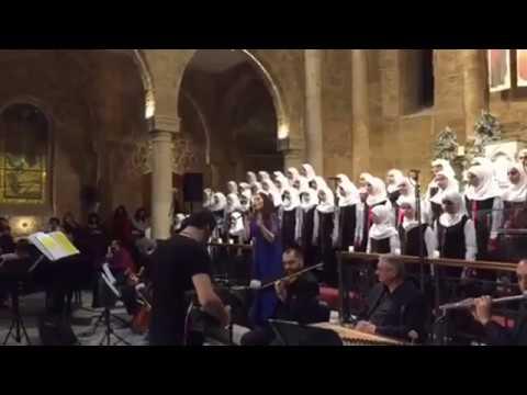 Muslim female choir sing Christmas carols in Arabic