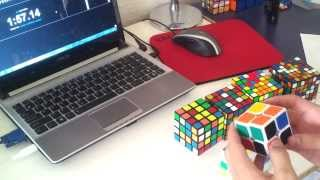 2x2 7x7 rubik s cube relay 6 18 09