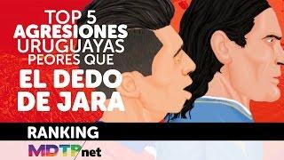 Cinco agresiones de uruguayos a chilenos peores que el dedo de Jara