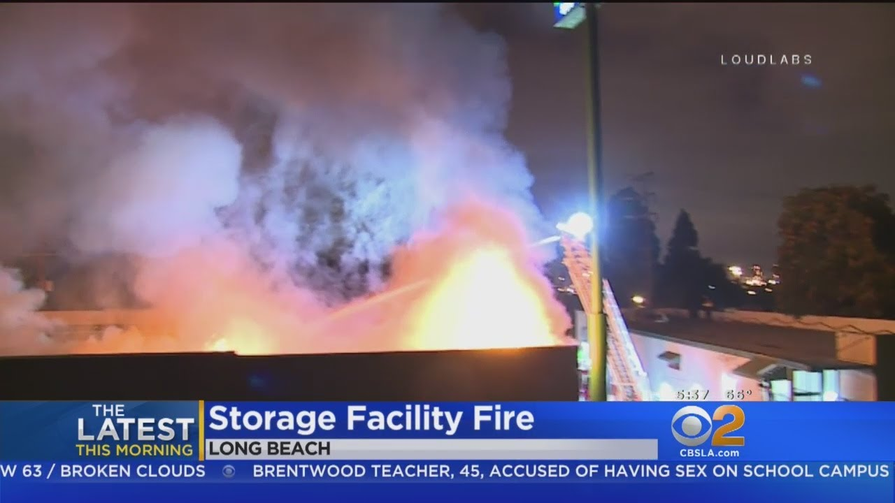 Long Beach Storage Units Go Up In Flames