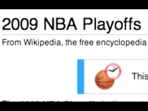 Wikipedia Predicts 2009 NBA Finals?