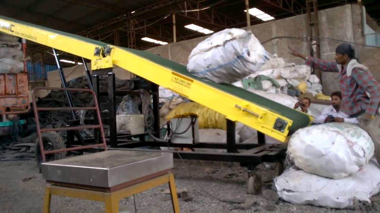 Truck Loading Unloading system 16P at scrap yard of bag 120+ kg wt