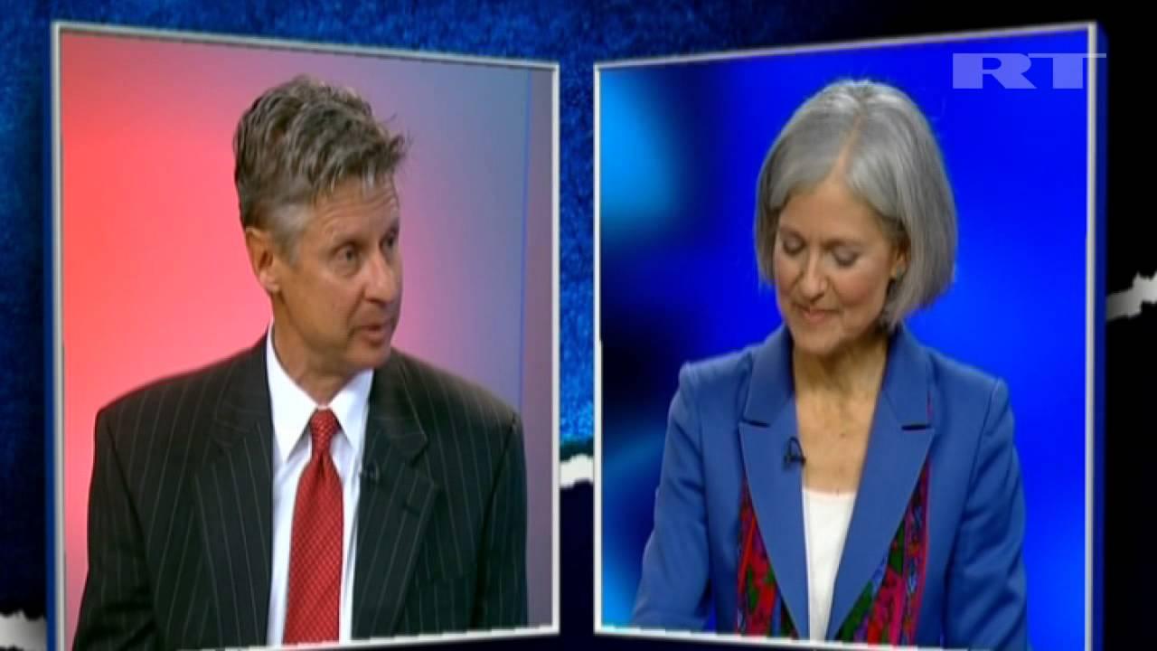 2012 last us presidential 3rd party debate gary johnson libertarian