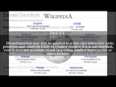 Wikipedia:Disambiguation Top # 9 Facts