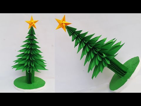 3D Paper Christmas Tree | How to Make 3D Paper Xmas Tree | DIY Christmas Tree Decorations