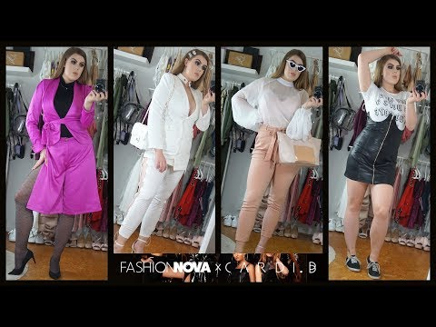 Fashion Nova X Cardi B Collection Part #2 Try-On Haul thumbnail