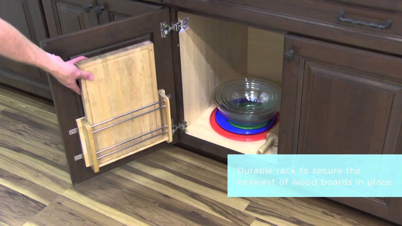Medallion Cabinetry: Installed Cutting Board Door Rack, Kitchen Storage  Part 23   YouTube