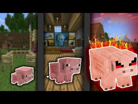 NẾU BÉ HEO CÓ CUỘC SỐNG TRONG MCPE   Cuộc Sống Minecraft PE