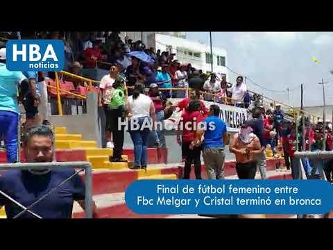 Violencia En La Final De Fútbol Femenino Entre Melgar Y Sporting Cristal