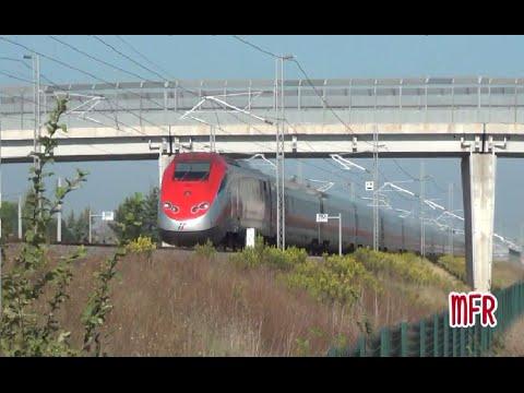 AV Roma-Napoli/Rome-Naples High Speed Railway: FRECCIAROSSA, FRECCIARGENTO and ITALO at 300 km/h!