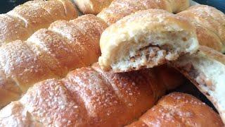 Домашние булочки с ореховой начинкой!!!