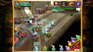 Arcane Legends: Judgement Guild hanging w/Delphette (Delphina)