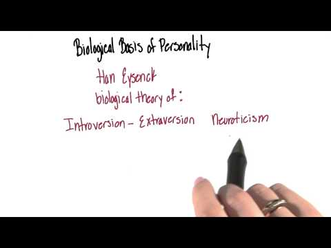 Biological basis of personality - Intro to Psychology