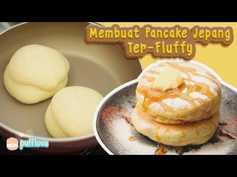 MEMBUAT PANCAKE JEPANG TERLEMBUT | HOW TO MAKE JAPANESE SOUFFLE PANCAKE