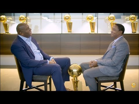 MAGIC JOHNSON & ISIAH THOMAS RECONCILE THEIR PAST [2K] (NBA
