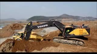 Koparka Volvo EC750EL. Największa i pierwsza z dostarczonych do europejskiego klienta.