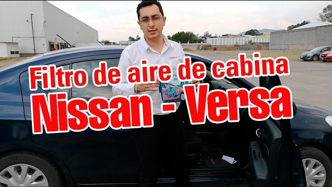 Cambio del filtro de aire de cabina nissan versa youtube for Filtro cabina camaro 2016