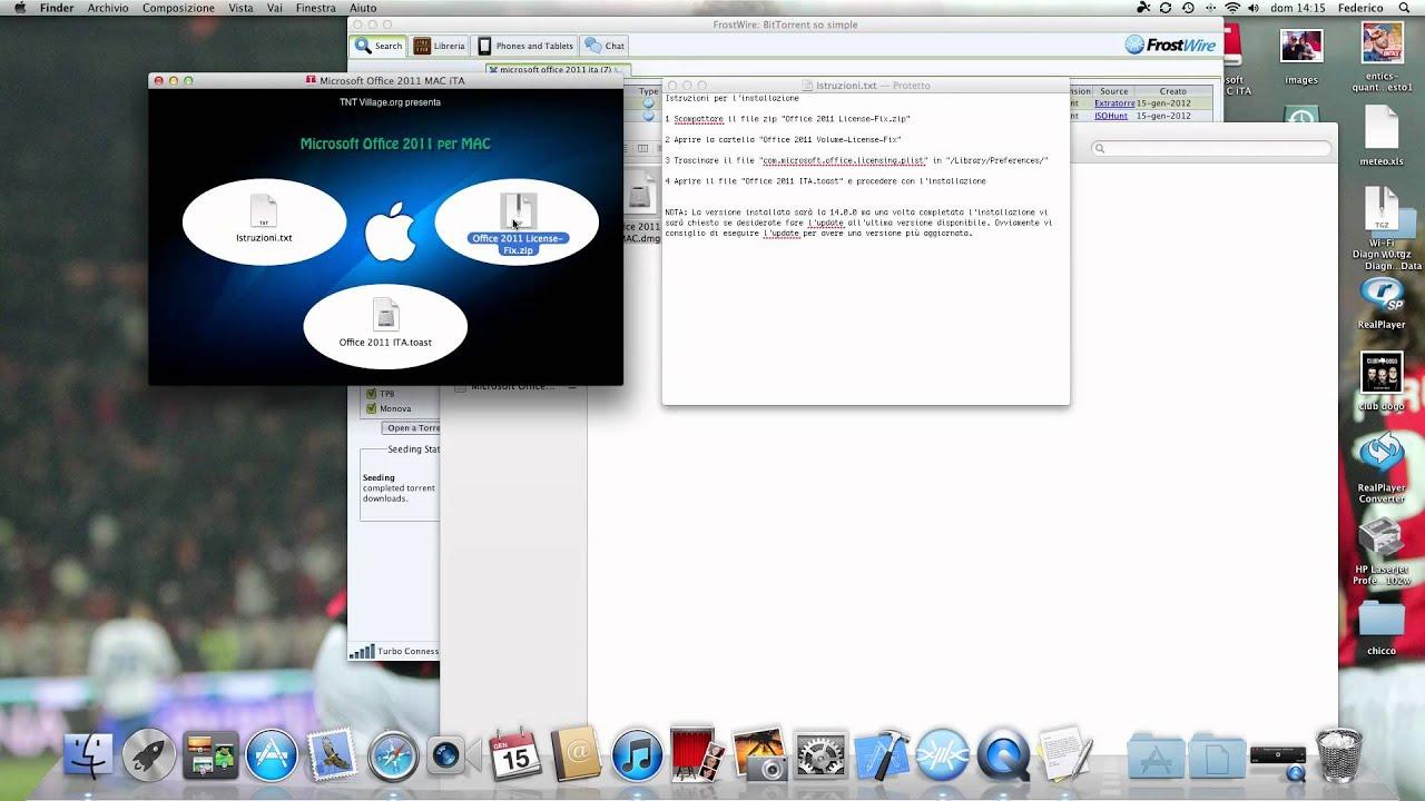 Crack office 2011 per mac