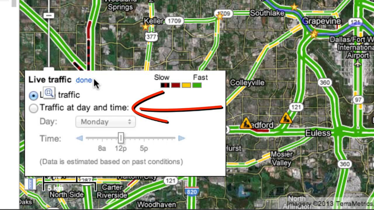 How to Use Google Maps to Check Traffic Conditions YouTube