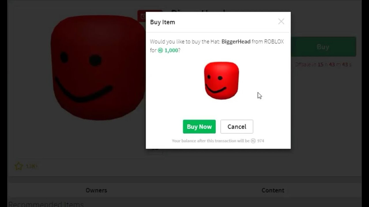 Roblox Labor Day Sale 2017 Buying The Biggerhead Youtube