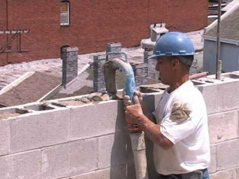 masonry block fill core fill mortar pumping grout pumping