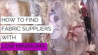 How to Find Fabric Suppliers with Low Minimums | DG Expo