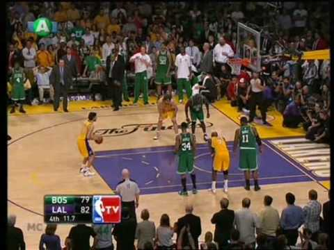 NBA Finals 2010 game 7 (end 4-3) Los Angeles Lakers - Boston Celtics 83-79 the grand finale ...