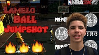 SHOOTING WITH LAMELO BALL IRL JUMPHSOT IN NBA 2K17 XBOX 360/ PS3