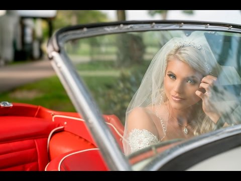 High Speed Sync Flash Bridal Shoot using the Sony FE 100mm STF with a 1957 Triumph