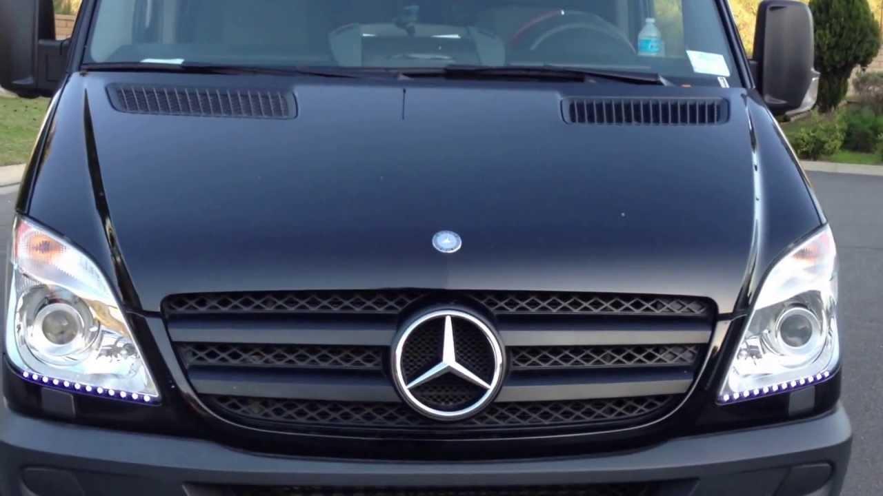 Platinum Luxury Limo Mercedes Benz Mini Party Bus YouTube - Mercedes benz limo bus