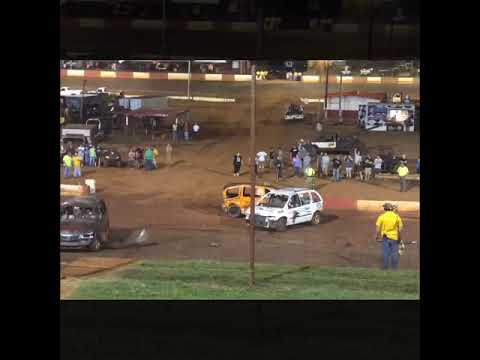 Dixie speedway van demolition derby