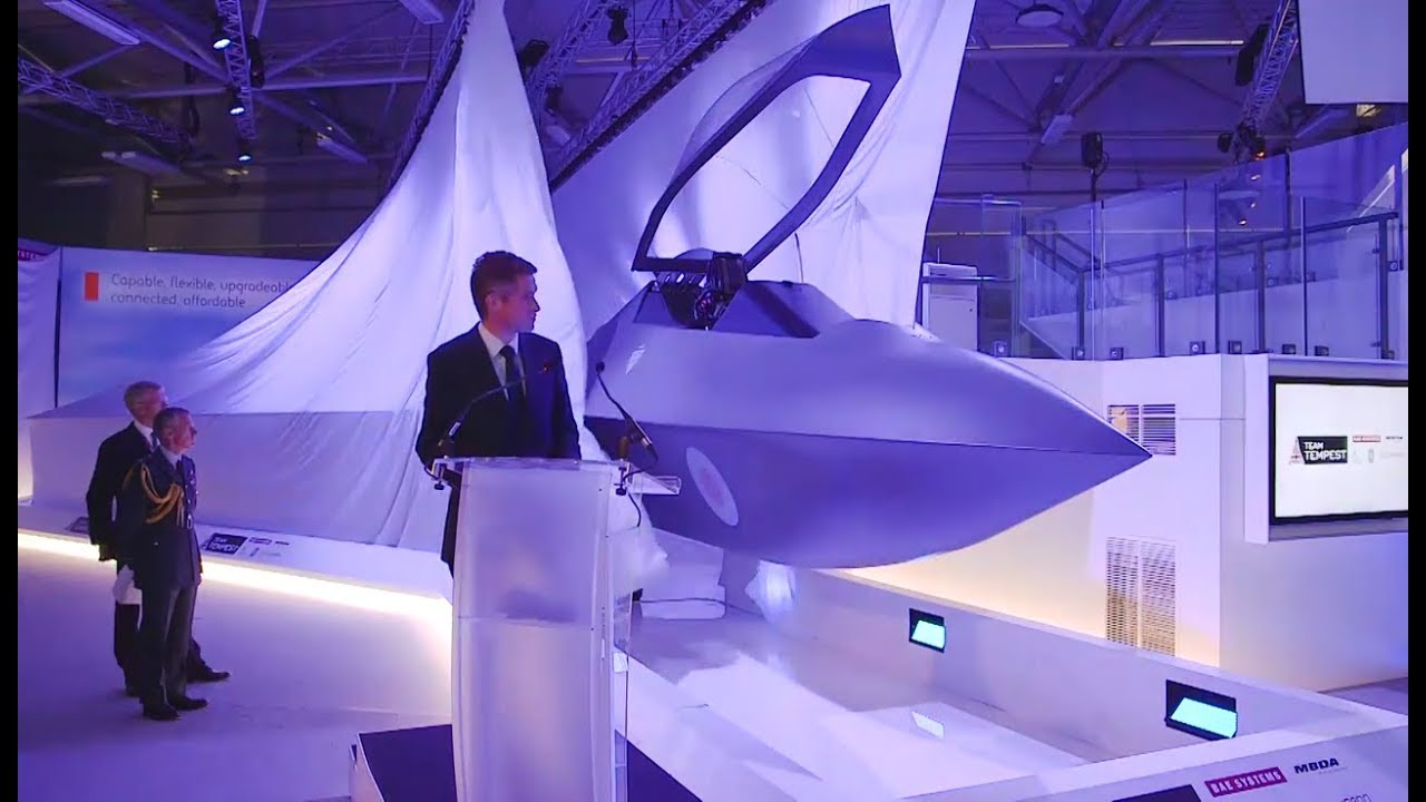 2035 UK's new fighter jet #Tempest, Combat Air Strategy, Farnborough 2018  #FIA18