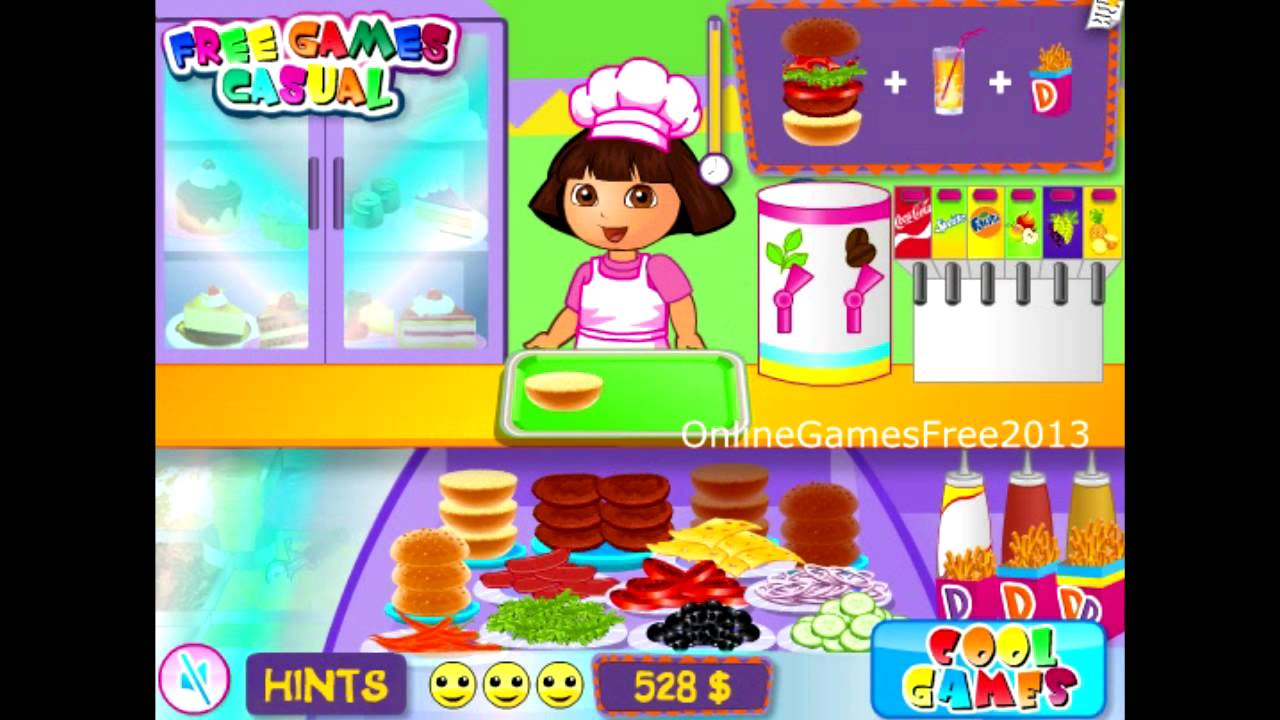 Dora The Explorer Online Games Dora The Explorer Cafe Game