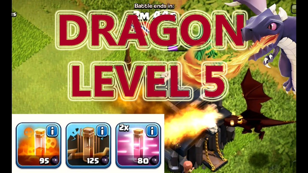 coc new update lvl 5 dragons are here