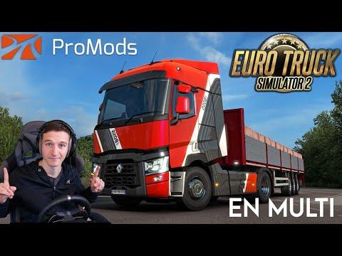 Je roule sur la Promods en multi ! Euro Truck Simulator 2