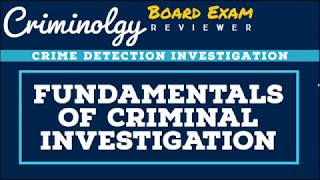 Fundamentals of Criminal Investigation; CRIMINOLOGY BOARD EXAM REVIEWER [Audio Reviewer]