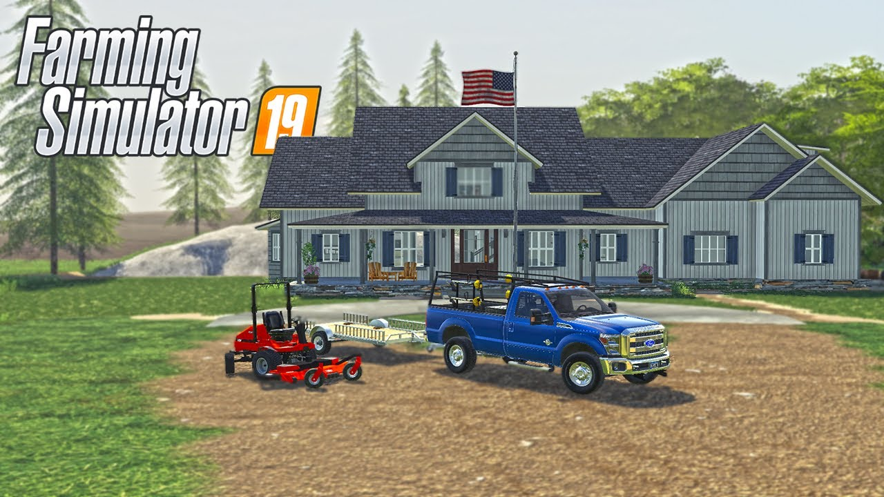 MOWING MASSIVE MILLIONAIRE PROPERTY & NEW WORK TRUCK | (ROLEPLAY) FARMING SIMULATOR 2019