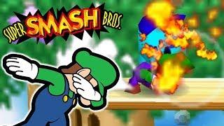 LUIGI THE GOD - (3 vs. 1) Lvl. 9 CPU Team Challenge | Smash Bros 64