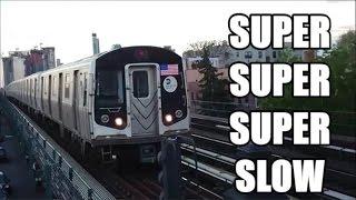 Sony Xperia XZs SUPER SLOW MOTION TRAINS NYC