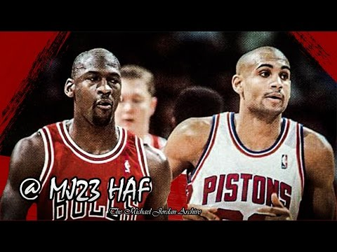 Michael Jordan vs Grant Hill Highlights Bulls vs Pistons (1996.01.21) - 60pts Total!