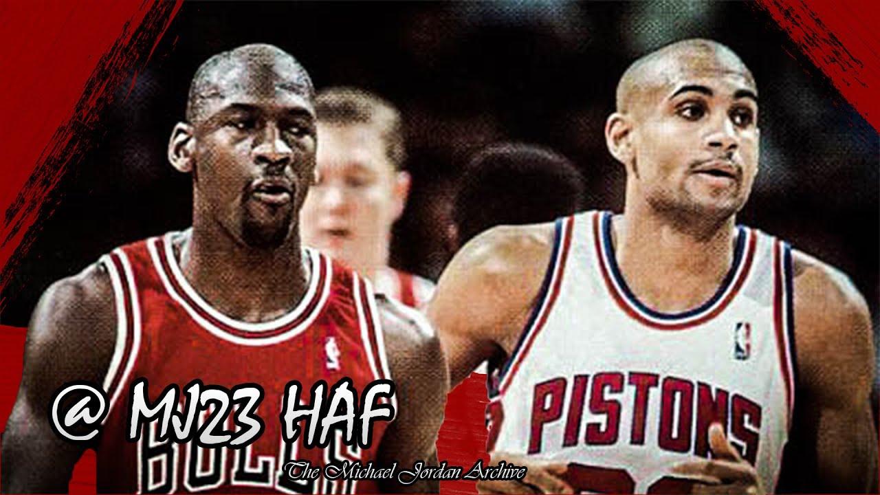 Michael Jordan vs Grant Hill Highlights Bulls vs Pistons 1996 01