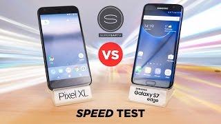 شاهد Google Pixel و Galaxy S7 Edge يتواجهان في إختبار السرعة - إلكتروني