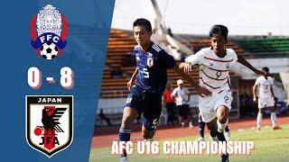 U16 Cambodia vs Japan 0-8 highlights - AFC U16 CHAMPIONSHIP 2019