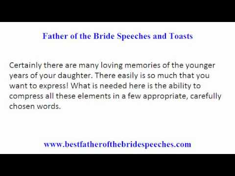 Wedding Toast Speech.Father Of The Bride Wedding Toasts Smart Tips On Writing Father Of Bride Speeches And Toasts