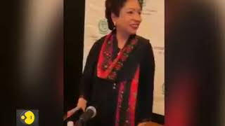 Pakistani heckles Pak UN representative Maleeha Lodhi at an event
