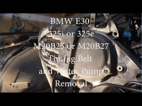 Bmw E30 M20 Timing Belt And Water Pump Removal 1984 1991 Bmw 3 Series