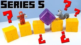 ROBLOX Toys Series 5 Mystery Boxes Yellow Crates Unboxing Review