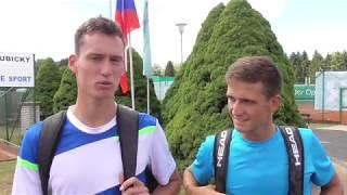 David Poljak a Vít Kopřiva po porážce v 1. kole deblu Rieter Open Ústí nad Orlicí 2018