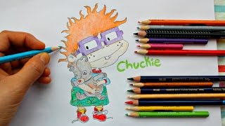 Drawing Chuckie Finster from Rugrats